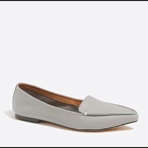 J by j crew gray leather Edie loafers